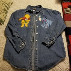 Disney Pooh and Eor Denim Shirt